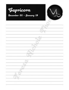 Capricorn Zodiac Journal Volume 2 Pic 03
