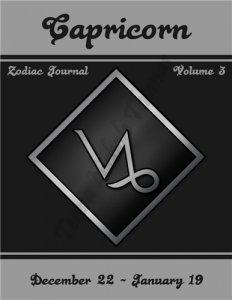 Capricorn Zodiac Journal Volume 3 Pic 01