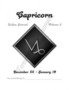 Capricorn Zodiac Journal Volume 3 Pic 02