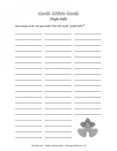 Christmas Joy Activity Book Volume 1 Pic 05