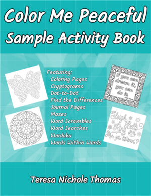 Color Me Peaceful Sample Activity Book Cover