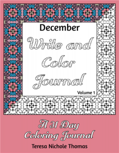 December Write and Color Journal Volume 1 Cover