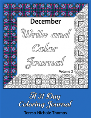 December Write and Color Journal Volume 2 Cover