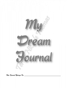 My Dream Journal 01