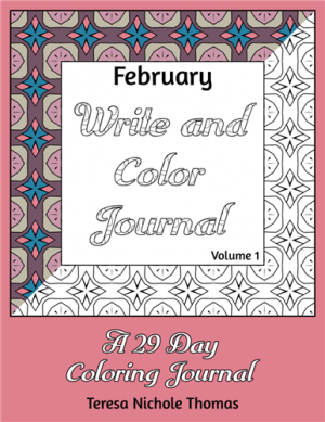 February Write and Color Journal Volume 1 Cover