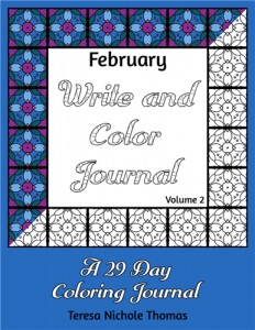 February Write and Color Journal Volume 2 Cover