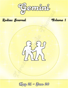 Gemini Zodiac Journal Volume 1 Pic 01