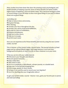 Gemini Zodiac Journal Volume 1 Pic 05