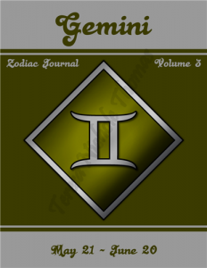 Gemini Zodiac Journal Volume 3 Pic 01