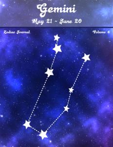 Gemini Zodiac Journal Volume 4 Pic 01