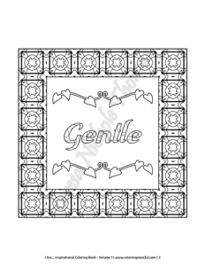 I Am Inspirational Coloring Book Volume 01 Pic 02