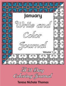 January Write and Color Journal Volume 1 Cover