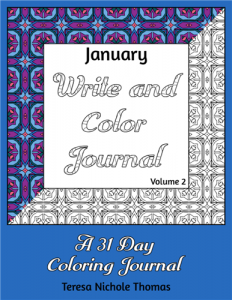 January Write and Color Journal Volume 2 Cover