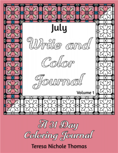 July Write and Color Journal Volume 1 Cover