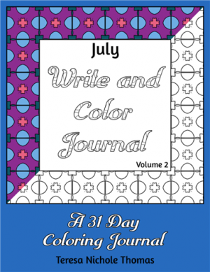 July Write and Color Journal Volume 2 Cover
