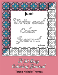 June Write and Color Journal Volume 1 Cover