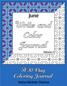 June Write and Color Journal Volume 2 Cover