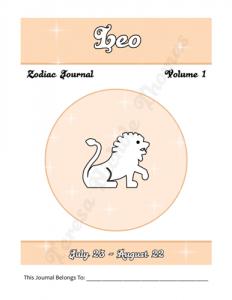 Leo Zodiac Journal Volume 1 Pic 02
