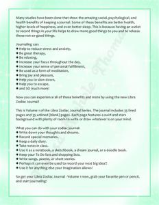 Libra Zodiac Journal Volume 1 Pic 05