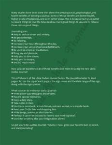 Libra Zodiac Journal Volume 2 Pic 04