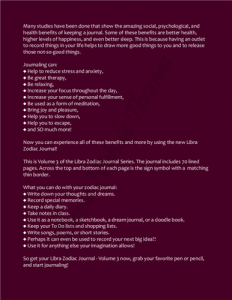 Libra Zodiac Journal Volume 3 Pic 04