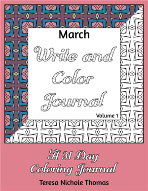 March Write and Color Journal Volume 1 Cover