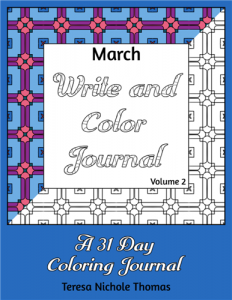 March Write and Color Journal Volume 2 Cover
