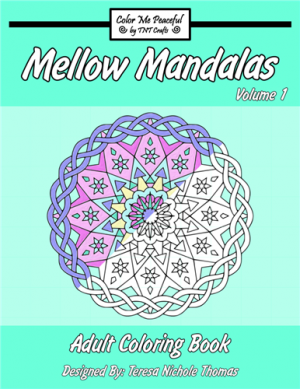 Mellow Mandalas Adult Coloring Book Volume 01 Cover