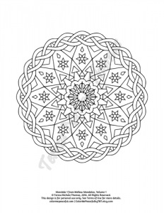 Mellow Mandalas Adult Coloring Book Volume 01 Pic 04