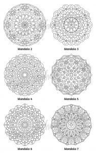 Mellow Mandalas Adult Coloring Book Volume 01 Pic 05