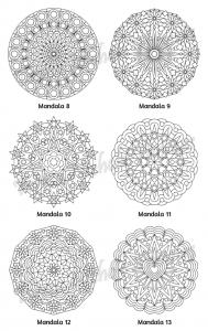 Mellow Mandalas Adult Coloring Book Volume 01 Pic 06