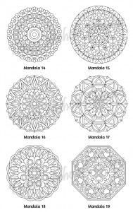 Mellow Mandalas Adult Coloring Book Volume 01 Pic 07