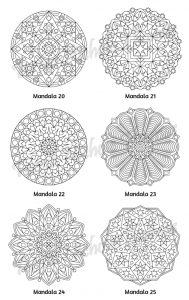 Mellow Mandalas Adult Coloring Book Volume 01 Pic 08