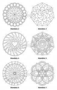 Mellow Mandalas Adult Coloring Book Volume 10 Pic 05