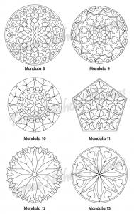 Mellow Mandalas Adult Coloring Book Volume 10 Pic 06