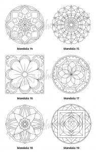 Mellow Mandalas Adult Coloring Book Volume 10 Pic 07