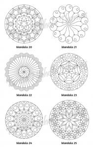 Mellow Mandalas Adult Coloring Book Volume 10 Pic 08