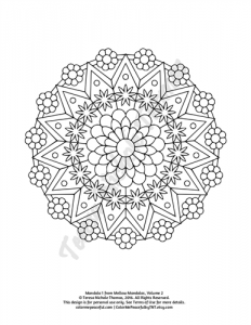Mellow Mandalas Adult Coloring Book Volume 02 Pic 04