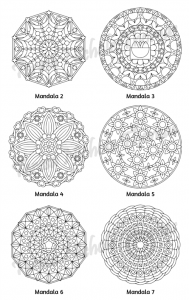 Mellow Mandalas Adult Coloring Book Volume 02 Pic 05