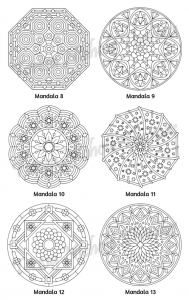 Mellow Mandalas Adult Coloring Book Volume 02 Pic 06