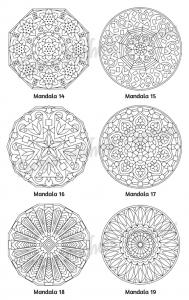 Mellow Mandalas Adult Coloring Book Volume 02 Pic 07