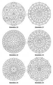 Mellow Mandalas Adult Coloring Book Volume 02 Pic 08