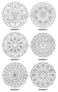 Mellow Mandalas Adult Coloring Book Volume 03 Pic 05