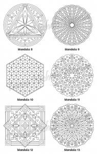 Mellow Mandalas Adult Coloring Book Volume 03 Pic 06