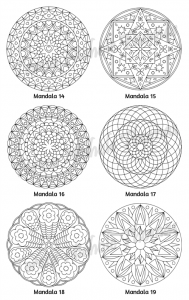 Mellow Mandalas Adult Coloring Book Volume 03 Pic 07