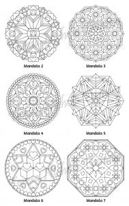 Mellow Mandalas Adult Coloring Book Volume 04 Pic 05