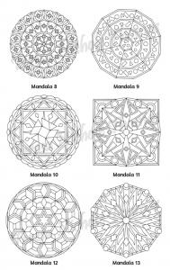 Mellow Mandalas Adult Coloring Book Volume 04 Pic 06