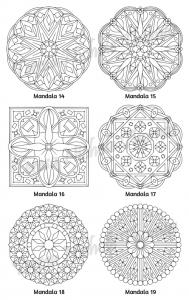 Mellow Mandalas Adult Coloring Book Volume 04 Pic 07