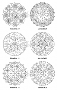Mellow Mandalas Adult Coloring Book Volume 04 Pic 08