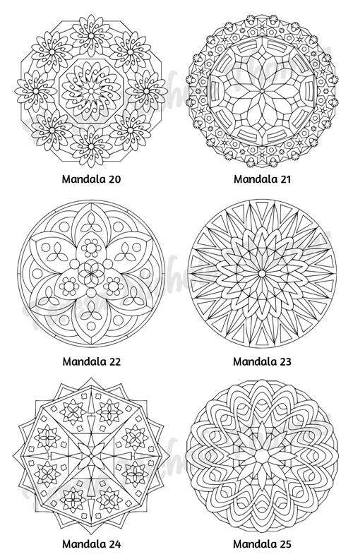 Mellow Mandalas Adult Coloring Book Volume 04 Pic 08